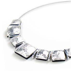 Watch This Space - Antique Square Shiny Necklace (2 colours)