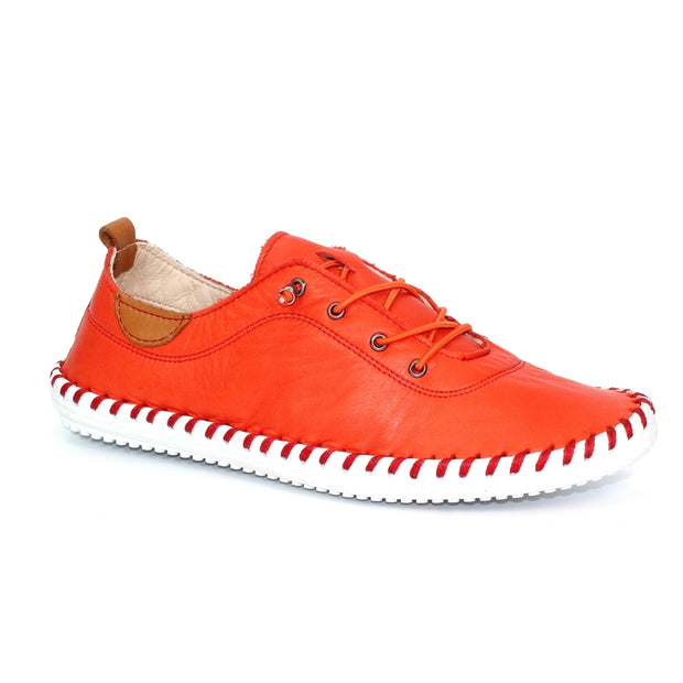 Lunar Shoes - St Ives Leather Plimsoll (2 colours)