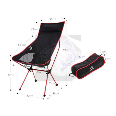 Ultra Light Beach Chair Outdoor Camping Portable Folding Lightweight For  Hiking Fishing Picnic