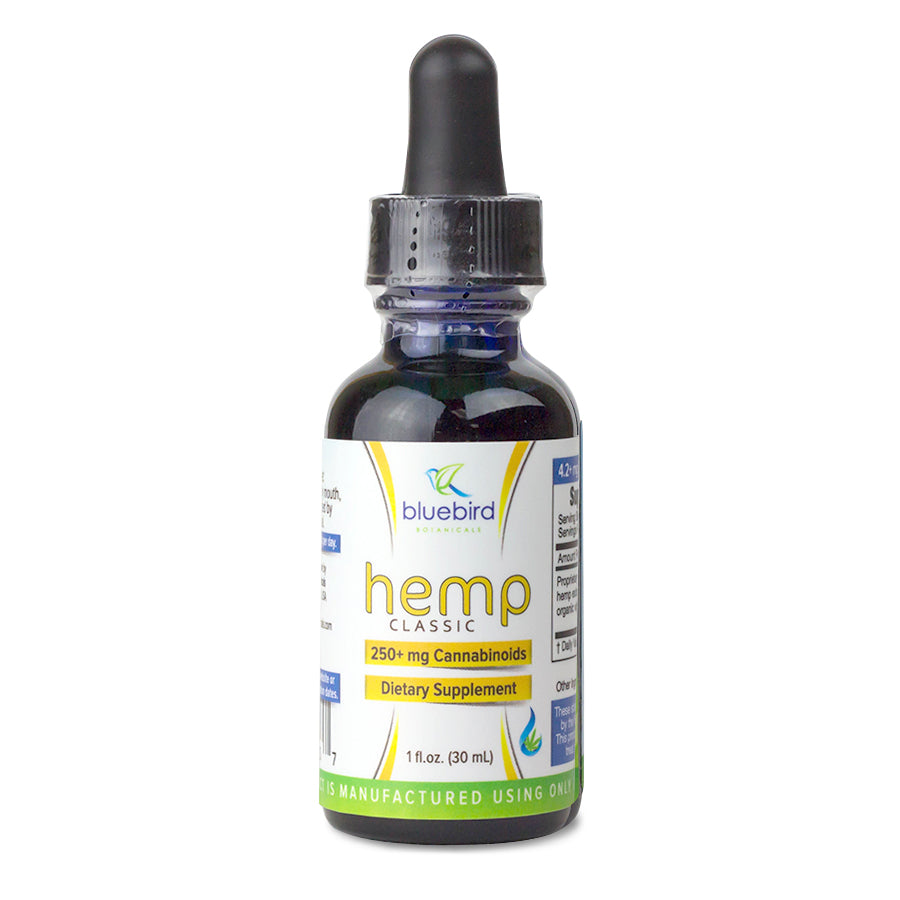 Bluebird Botanicals - Classic Hemp (250-500mg CBD) Bluebird Botanicals Tincture Extracts Club Releaf CBD, Concentrates, Drops, e-liquid, eliquid, Hemp, Oil, tincture