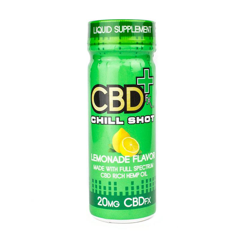 CBDfx - CBD Chill Shot - Lemonade Flavor- 20mg CBDfx Drinks Club Releaf CBD, Chill, Citrus, Drink, Edibles, Hemp, Oil, Shot, Supplements