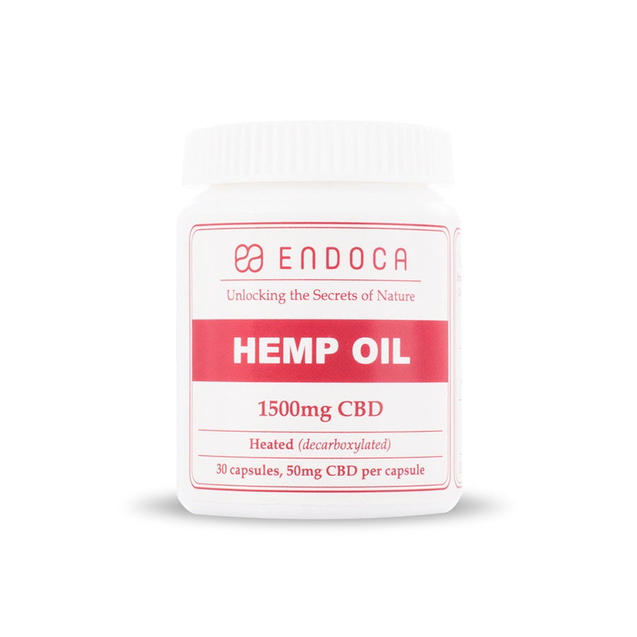 Endoca - CBD Capsules 30 Count (300mg CBD) Endoca Capsules & Softgels Club Releaf Capsules, CBD, Hemp, Oil, Softgels