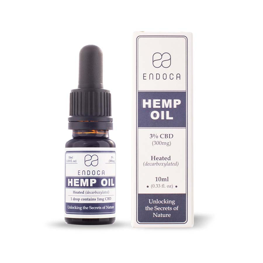 Endoca - Hemp Oil Drops 300mg CBD (Cannabidiol) (3%) Endoca Tincture Extracts Club Releaf CBD, Dab, Drops, e-liquid, eliquid, Hemp, Oil, tincture
