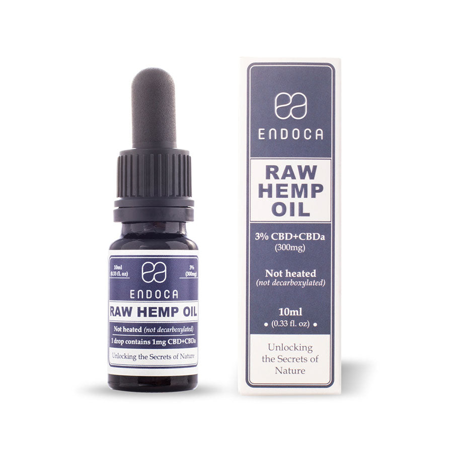 Endoca - RAW Hemp Oil Drops 300mg CBD + CBDa (3%) Endoca Tincture Extracts Club Releaf CBD, Dab, Drops, e-liquid, eliquid, Hemp, Oil, tincture