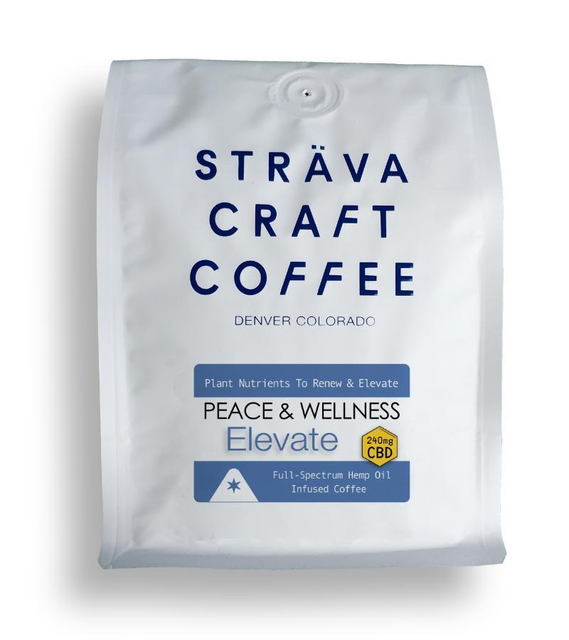 Strava Craft Coffee - ELEVATE - HEMP OIL INFUSED COFFEE (240MG CBD PER 12OZ BAG) Strava Craft Coffee Drinks Club Releaf CBD, Coffee, Drink, Hemp