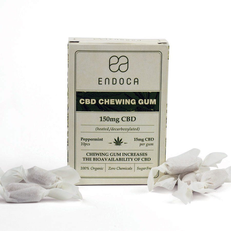Endoca - CBD Chewing Gum 10 Count (150mg CBD) Endoca Edibles Club Releaf Candy, CBD, Chewing, Edibles, Gum, Gummy, Hemp, Oil