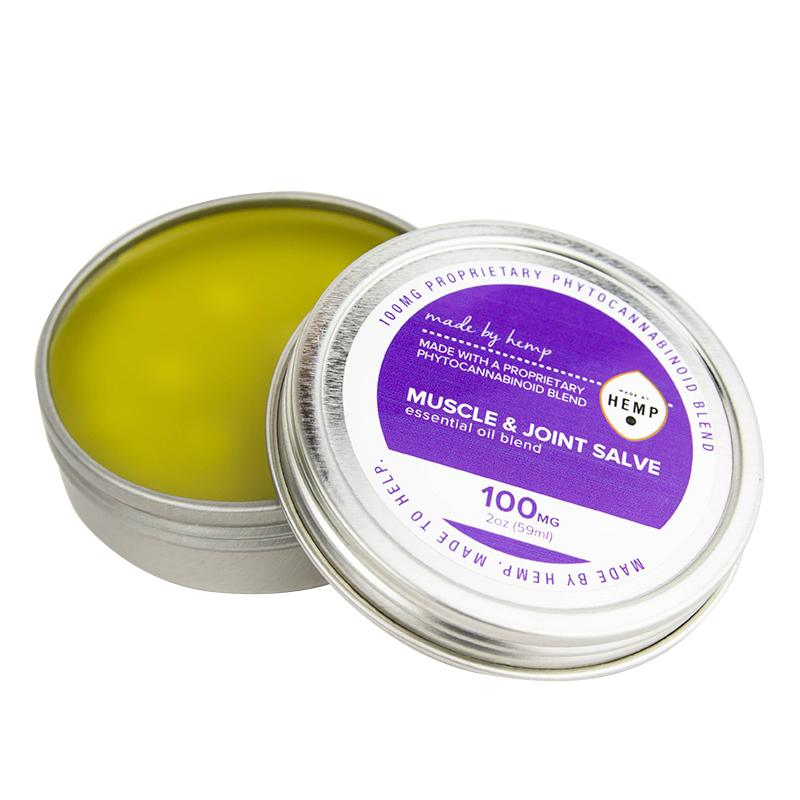 Made by Hemp - Muscles and Joints Salve (100mg CBD) Made by Hemp Skincare & Muscle Rubs Club Releaf CBD, Hemp, Muscle, Oil, Salve, Skincare