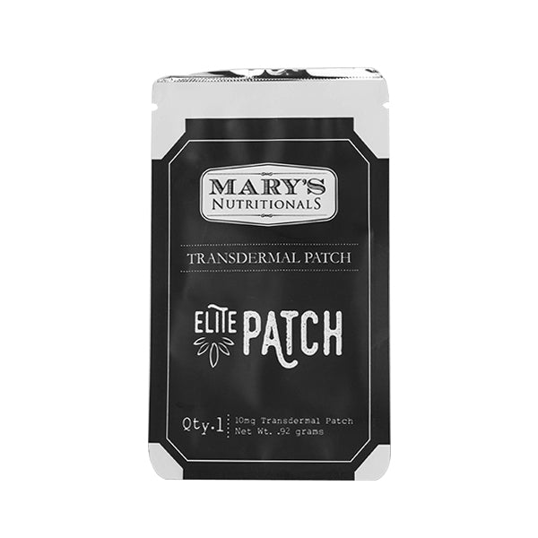 Mary's Nutritionals - Elite CBD Patch (10mg CBD) Mary's Nutritionals Patches Club Releaf Balm, Beauty, CBD, Concentrates, Health, Joint, Massage, Muscle, Oil, Patch, Skincare