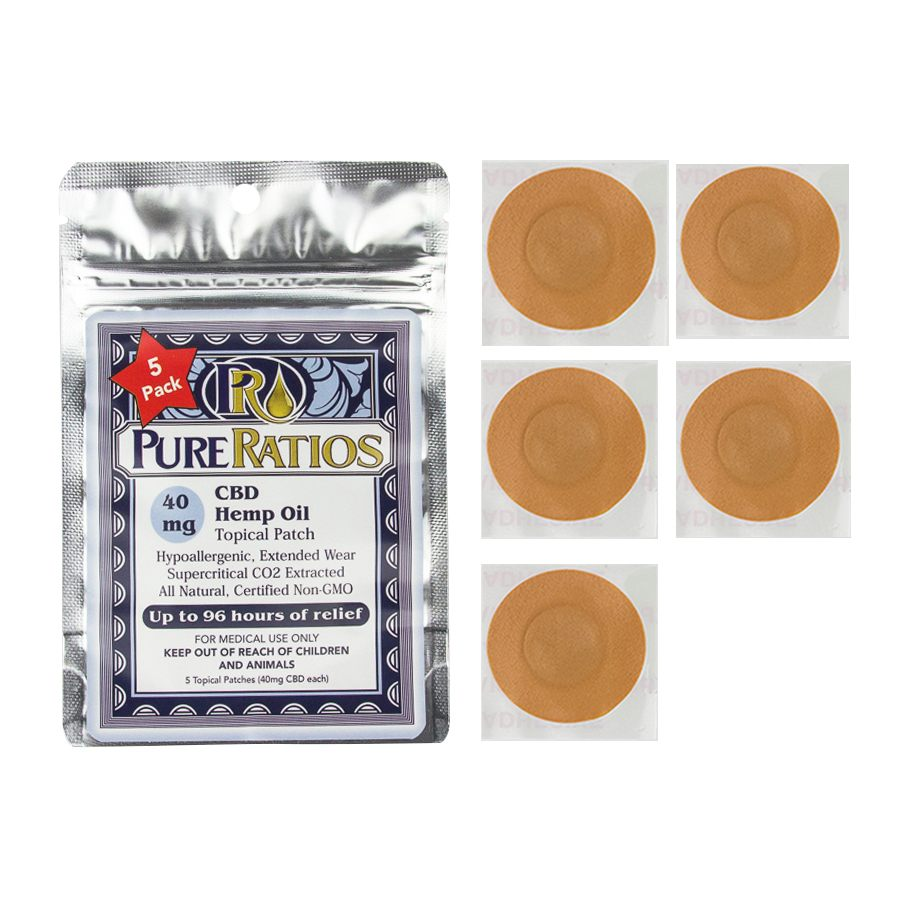 Pure Ratios - CBD Topical Hemp Patch (40mg CBD) Pure Ratios Patches Club Releaf CBD, Hemp, Massage, Muscle, Patch