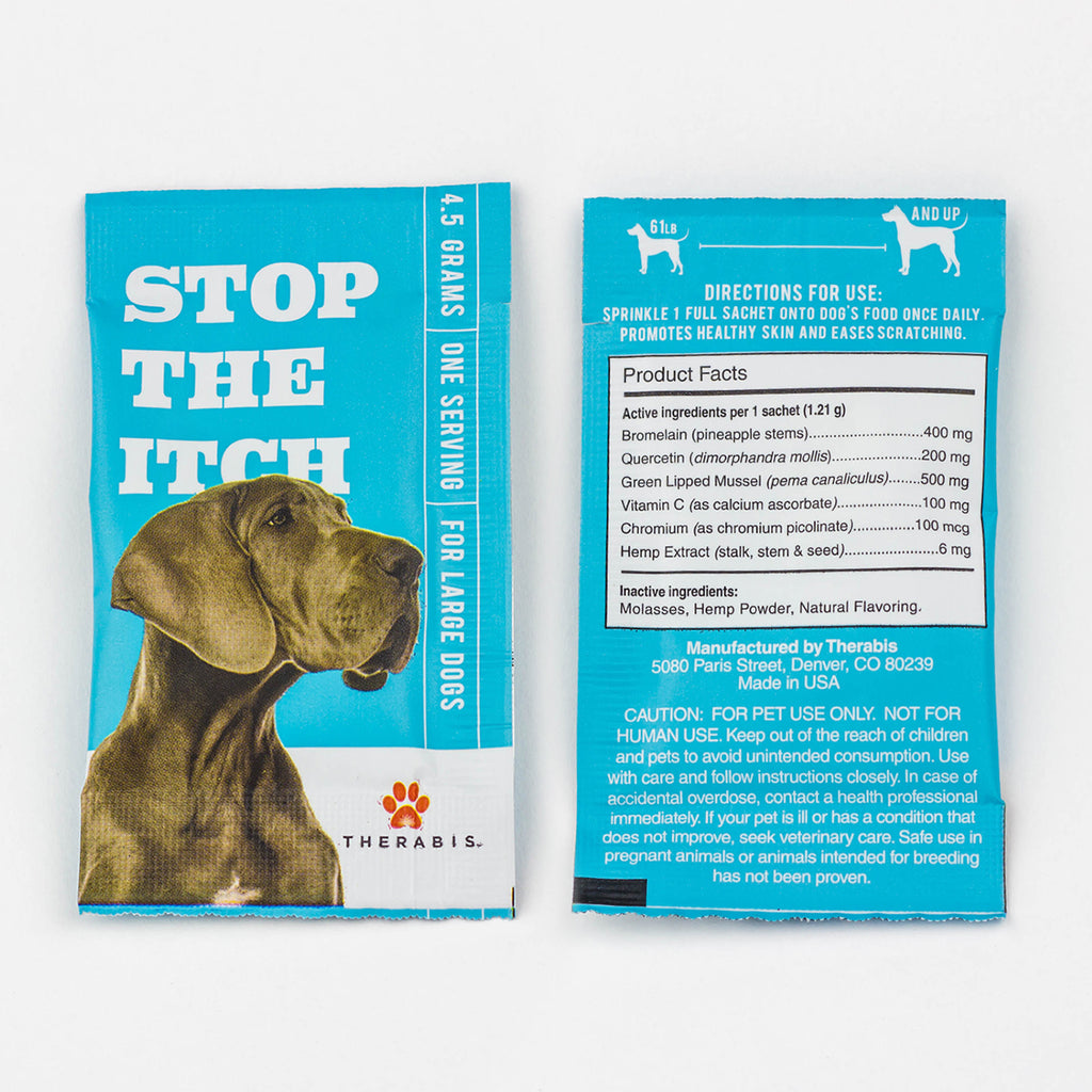 Therabis - Stop the Itch (Large Dogs: Over 60lbs) 5-30Pack Therabis Pet Supplements Club Releaf CBD, Dog, Dogs, Itch, Oil, Pet
