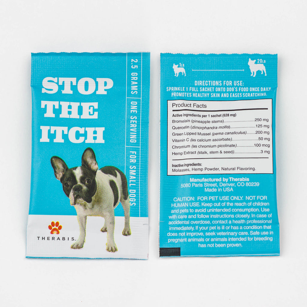 Therabis - Stop the Itch (Small Dogs: Up to 20lbs) 5-30Pack Therabis Pet Supplements Club Releaf CBD, Dog, Dogs, Itch, Oil, Pet