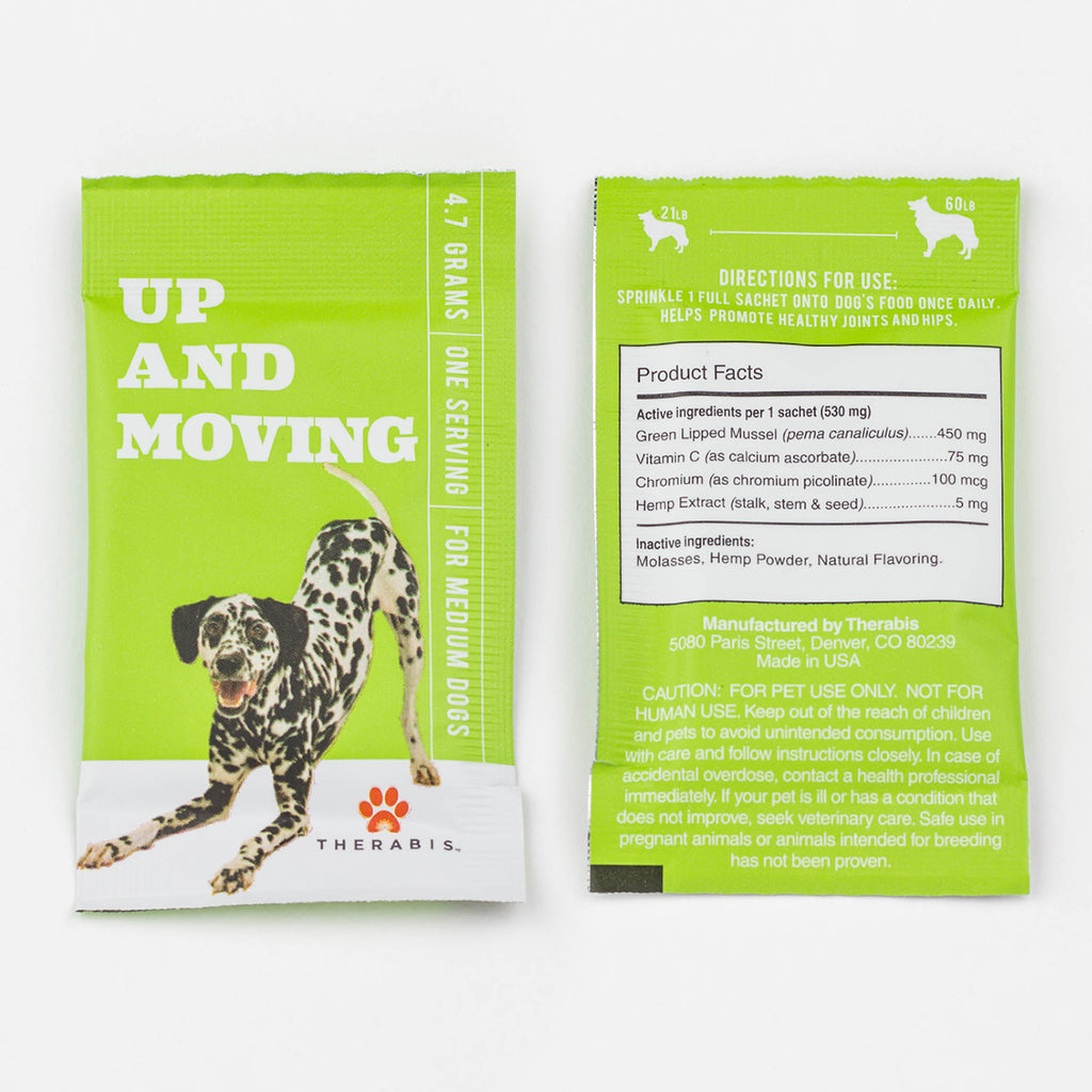 Therabis - Up & Moving (Medium Dogs: 21-59lbs) 5-30Pack Therabis Pet Supplements Club Releaf CBD, Dog, Dogs, Energy, Moving, Oil, Pet, Up