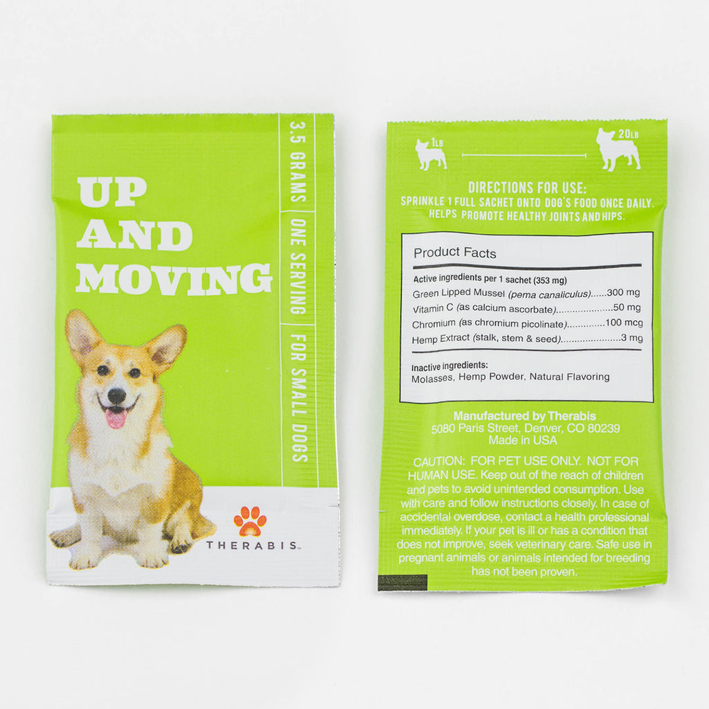 Therabis - Up & Moving (Small Dogs: Up to 20lbs) 5-30Pack Therabis Pet Supplements Club Releaf CBD, Dog, Dogs, Energy, Moving, Oil, Pet, Up