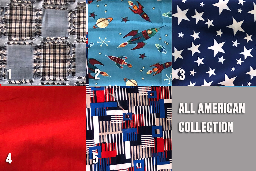 ALL-AMERICAN FABRIC MASK ~ FILTER POCKET W/FILTER ~ PATRIOTIC & VERSATILE ~ 5 SIZES: BABY ~ ADULT