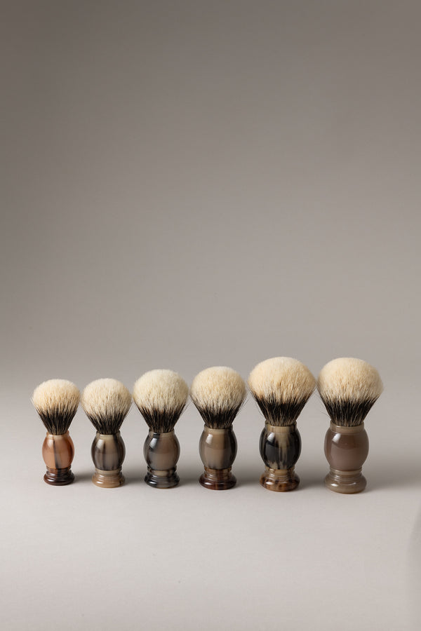 Pennello corno - zebù - Horn shaving brush