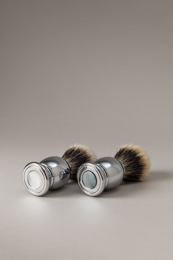 Pennello barba cromato - Madreperla - Shaving brush - Mother of pearl