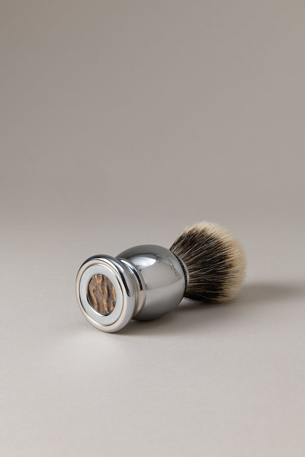 Pennello cromato - Cervo - Shaving brush