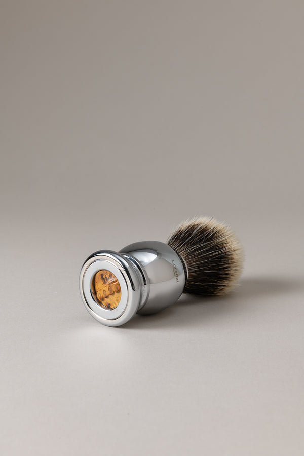 Pennello barba cromato -  bambù - Shaving brush, Bamboo