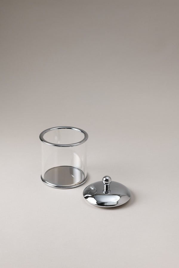 Glass toilet ear picks jar