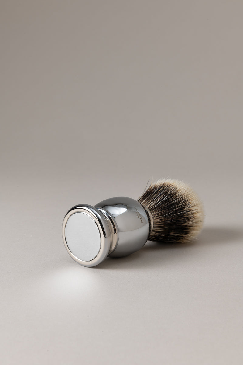 Pennello cromato - ottone cromato - Shaving brush
