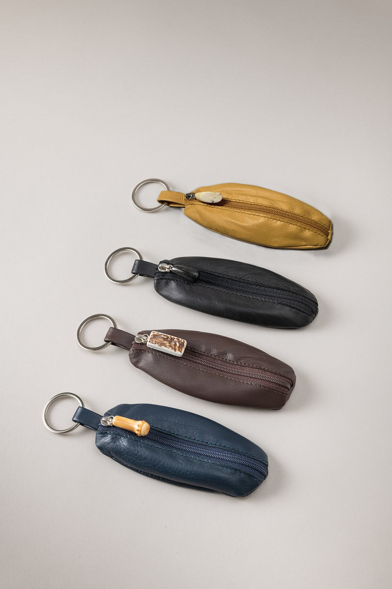 Portachiavi ovale - Oval leather key-chain