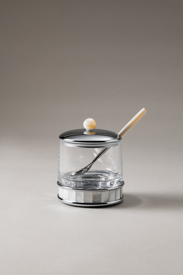 Formaggiera con cucchiaio - Jelly or cheese jar with spoon