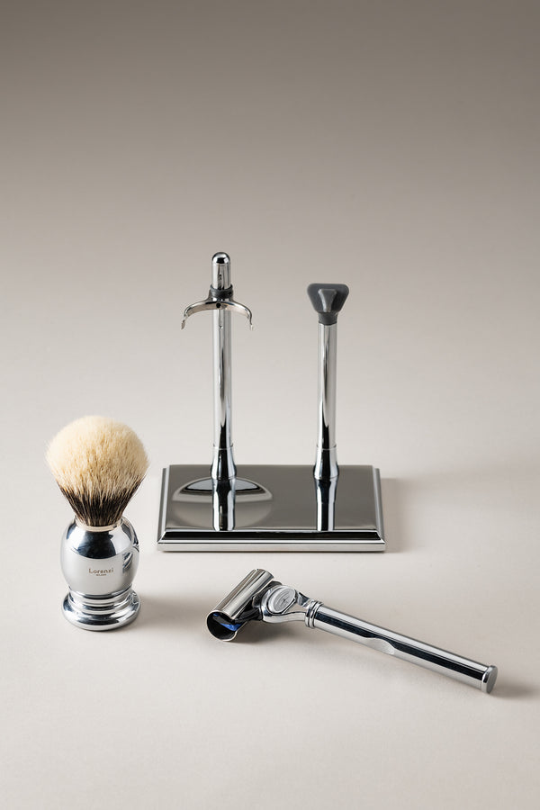 Set rasoio pennello rettangolare - Rectangular shaving set