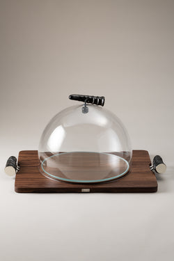 Tagliere formaggio con campana - Cheese serving board with glassdome
