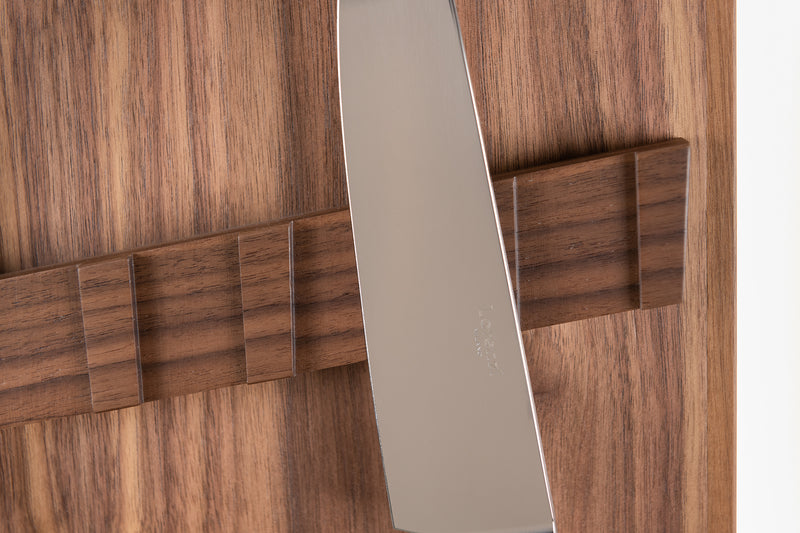 Coltelliera piccola con vetro - Small cabinet wall-mounted knifes set