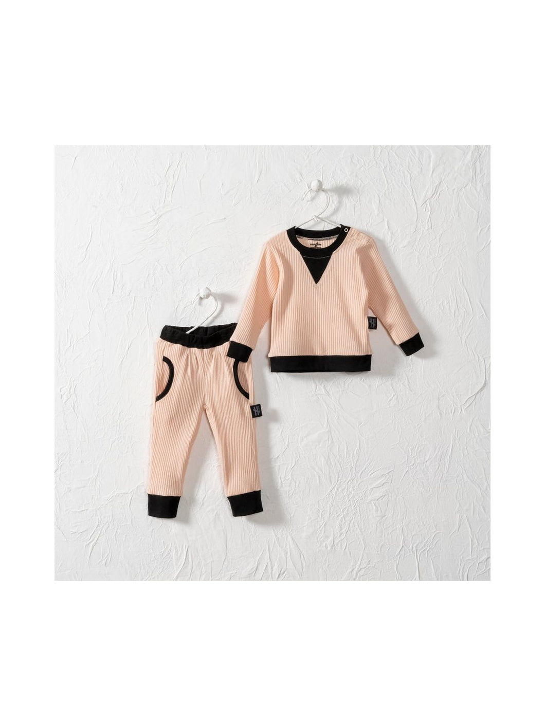 Peach Solid Tracksuit Set