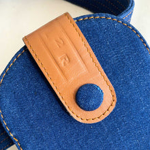Load image into Gallery viewer, Sc1 | Zero Waste Double Belt Bag with Clip Pouches in Tan and Blue Denim