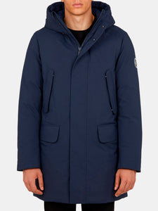 Men's Long Parka in SMEG with Adjustable Hood