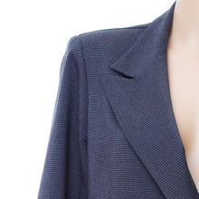 Load image into Gallery viewer, B2 | Long Double Breasted Blazer in Grey Houndstooth