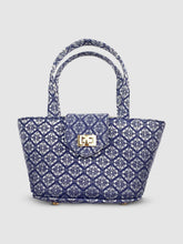 Load image into Gallery viewer, SC4 | Mini Panier Crossbody ScraBag in Blue and Silver