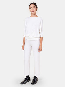 White Lori Burnout Pant