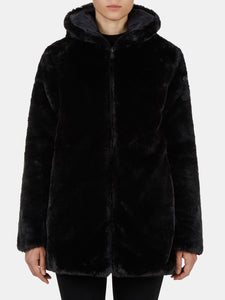 Women's FURY Reversible Faux Fur Hooded Coat