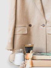 Load image into Gallery viewer, The Alek Double Breasted Textured Linen Viscose Blazer