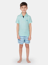 Load image into Gallery viewer, Boys Whisper Blue Polo Shirt