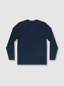 Solid Deep Blue Long Sleeve T-Shirt