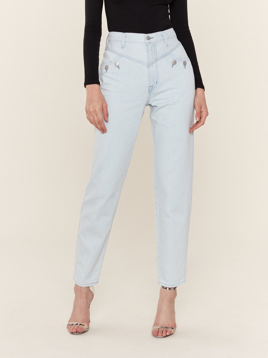 Elsa Playday Super High Rise Slim Ankle Jeans