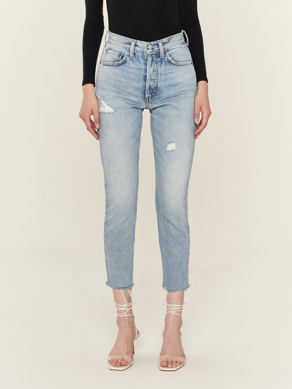 The Billy High Rise Rigid Skinny Crop Jeans
