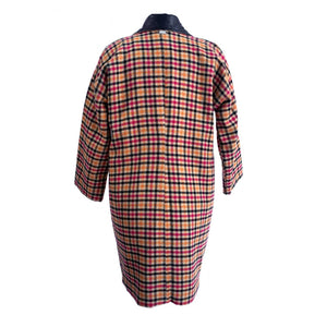 C6 | Oversized Cocoon Coat in Multicolor Checked Tweed