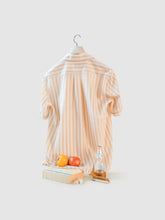 Load image into Gallery viewer, The Elio Short Sleeve Mixed Stripe Cotton Shirt
