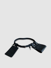 Load image into Gallery viewer, Sc1 | Double Belt Bag with Removable Pouches in Black and Nickel