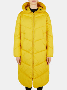 Women's Hooded Long Coat in RECY from Recycled Bottles