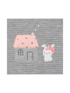 Gray Bunny Graphic Sweater