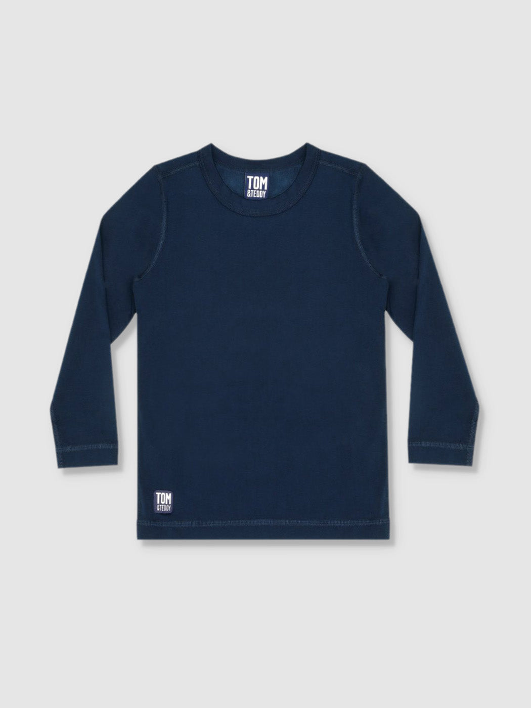 Boys Deep Blue Long Sleeve T-Shirt