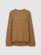 Load image into Gallery viewer, The Steph Cashmere Blend Rib Open Neck Sweater