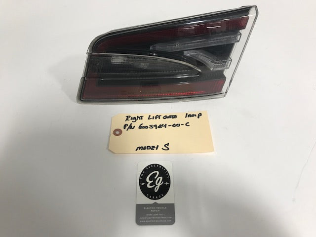 TESLA Model S Right Inner Tail Light Trunk Lid OEM  P/N# 6005924-00-C