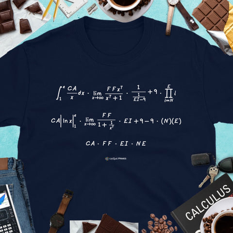 CAFFEINE Math Message Unisex T-shirt